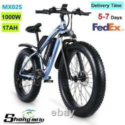 1000W 26 Adult Electric Mountain Bike 17AH High Power City Fat Tire Bicycle