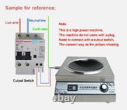 220V 5KW High Power Commercial Electric Induction Cooker Cooking Machine