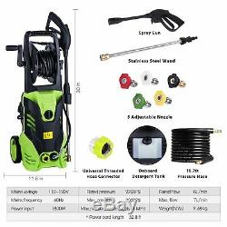 3000PSI 1.8GPM Electric Pressure Washer High Power Water Cleaner Sprayer NEW