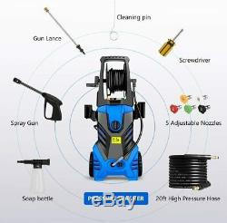 3000PSI 1.8GPM Electric Pressure Washer Home Car High Power Cold Cleaner Machine