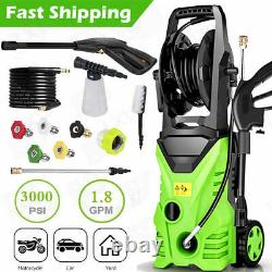 3000PSI 2.0GPM Electric Pressure Washer 2000W High Power Water Cleaner Machine#