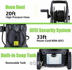 3000PSI 2.0GPM Electric Pressure Washer 2000W High Power Water Cleaner Machine 1