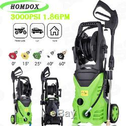 3000PSI High Power Cold Water Electric Pressure Washer 1.80 GPM Cleaner Machine