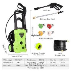 3000PSI High Power Cold Water Electric Pressure Washer 1.8GPM Cleaner Machine