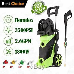 3500PSI 1800W 2.6GPM High Power Electric Pressure Water Cleaner Washer Machine