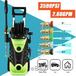 3500PSI 2.60GPM Electric Pressure Washer High Power Water Cleaner Jet Machine