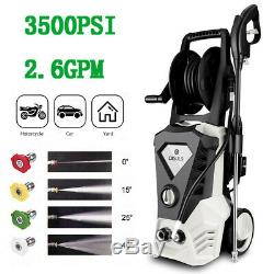 3500PSI 2.60GPM Electric Pressure Washer High Power Water Cleaner Machine