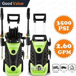 3500PSI 2.60GPM Electric Pressure Washer, High Power Water Cleaner Machine Kits