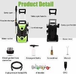 3500PSI 2.6GPM Electric Pressure Washer 1800W High Power Cleaner Water Sprayer