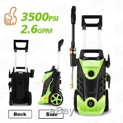 3500PSI 2.6GPM Electric Pressure Washer High Power Auto Jet Cleaner Machine Set