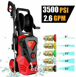 3500PSI 2.6GPM Electric Pressure Washer, High Power Cold Water Cleaner Car etc
