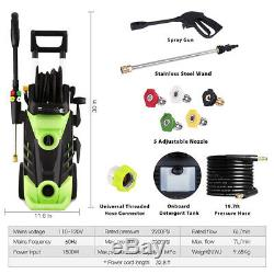 3500PSI 2.6GPM Electric Pressure Washer High Power Cold Water Washing Cleaner