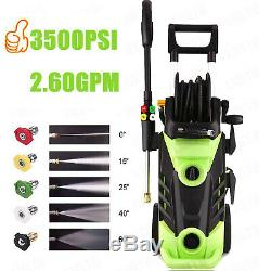 3500PSI 2.6GPM Electric Pressure Washer High Power Water Car Cleaner Machine Kit