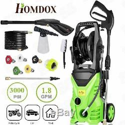 3500PSI 2.6GPM Electric Pressure Washer High Power Water Cleaner Cleaning Kits