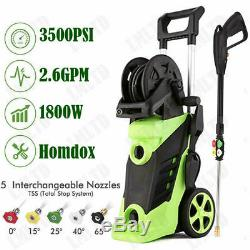 3500PSI 2.6GPM Electric Pressure Washer High Power Water Cleaner Jet Machine US