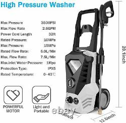 3500PSI 2.6GPM Electric Pressure Washer High Power Water Cleaner Machine Kit