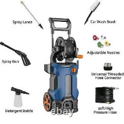 3500PSI 2.6GPM Electric Pressure Washer High Power Water Cleaner Sprayer 4Nozzle