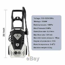 3500PSI 2.6GPM Electric Pressure Washer High Power Water Cleaner Sprayer 5Nozzle