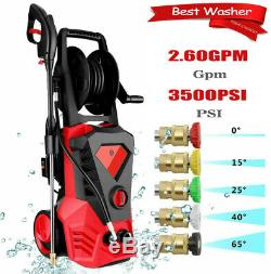 3500PSI 2.6GPM Electric Pressure Washer High Power Water Cleaner Sprayer Kit USA