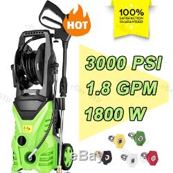 3500PSI 2.6GPM High Power Cleaner Electric Pressure Washer 5Interchangeable Tips