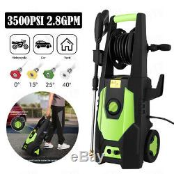3500PSI 2.80GPM Electric Pressure Washer High Power Auto Jet Cleaner Machine Kit