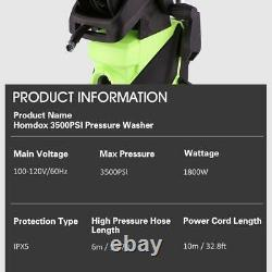3500PSI 2.8GPM Electric Pressure Washer 2000W High Power Water Cleaner Machine