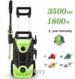 3500PSI Electric Pressure Washer 2.6GPM High Power 1800W Electric Cleaner 4 Tips