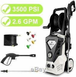 3500PSI High Power Water Electric Pressure cleaner 2.6GPM Machine washer 5Nozzle