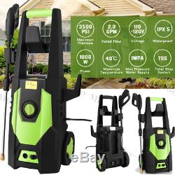 3500PSI Pressure Washer Electric 2GPM High Power Cold Water Cleaner Machine Home