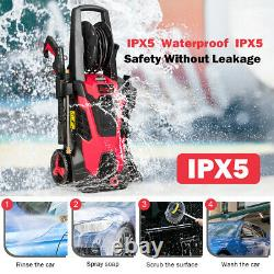 3500 PSI 2.1GPM Electric Pressure Washer High Power Water Cleaner With 5 Nozzles
