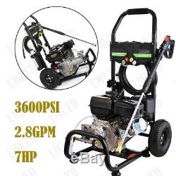 3600PSI 2.8GPM Electric/Gas Pressure Washer High Power Cleaner Machine Jet Kit