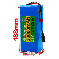 36V battery 30Ah battery pack 500W high power battery Ebike electric bicycle BMS