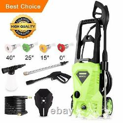 38002600 PSI 3GPM Electric Pressure Washer High Power Water Cleaner Machine US