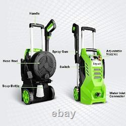 3800PSI 2.6GPM Electric Pressure Washer 2000W High Power Cleaner Machine With Reel