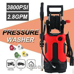 3800PSI 2.80GPM Electric Pressure Washer High Power Cold Water Cleaner Machine
