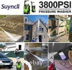 3800PSI 2.8GPM Electric Pressure Washer 2000W High Power Water Cleaner Machine