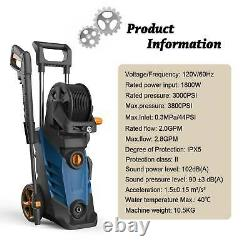 3800PSI 2.8GPM Electric Pressure Washer High Power Water Cleaner Washing Machine