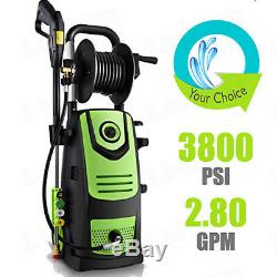 3800PSI 2.8 GPM Electric Pressure Washer High Power Water Cleaner Jet Machine US