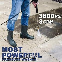 3800PSI 3.00GPM Electric Pressure Washer High Power Cleaner Machine Home 2000W