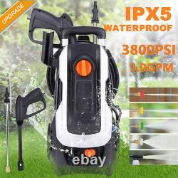 3800PSI 3.0GPM Electric Pressure Washer 2000W High Power Cleaner Water Sprayer
