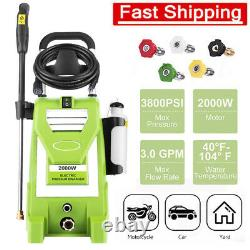 3800PSI 3.0GPM Electric Pressure Washer High Power Washer Home Car with Hose Reel