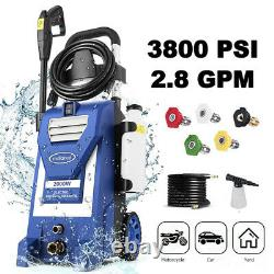 3800PSI 3.0GPM Electric Pressure Washer High Power Washer Home Cleaner Machine