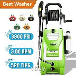 3800PSI 3.0GPM Electric Pressure Washer Home High Power Cold Water Cleaner Kits