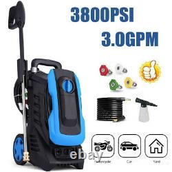 3800PSI 3.0GPM Electric Pressure Washer Portable High Power Washer Machine NEW