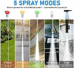 3800PSI Electric Pressure Washer 2000W High Power Cold Water Cleaner Machine &