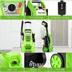 3800PSI Electric Pressure Washer 2000W High Power Cold Water Cleaner Machine US