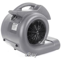 3-Speed High Flow Air Mover Blower Powerful Carpet Dryer Floor Drying Fan 3/4HP