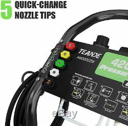 4200PSI 3.0GPM Electric Pressure Washer High Power Cold Water Cleaner Machine