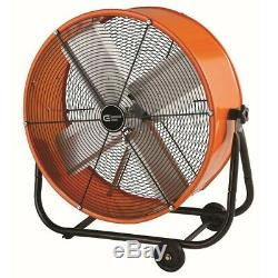 Commercial Big Heavy Duty Drum Fan High Power Thermally Protected Multi Purpose
