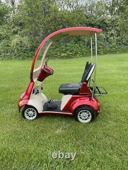 E-Wheels EW-54 4-Wheel High Power Electric Mobility Scooter withCanopy, Red